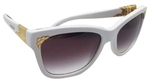 BVLGARI New BVLGARI Sunglasses 8134-K 740/8H White & Gold Plated w/Violet Fade