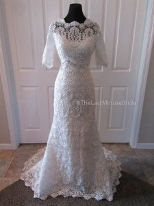 Sottero and Midgley Ivory/Nude Lace Emmanuelle 5ss095jk Feminine Wedding Dress Size 10 (M)
