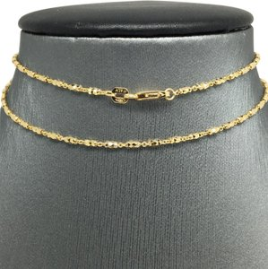 Other 18K Yellow Gold Diamond Cut Bar Chain 18 inches