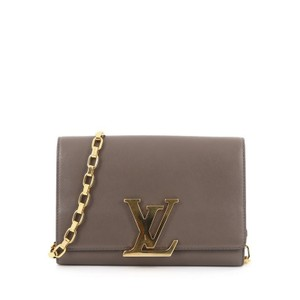 Louis Vuitton Leather Grey Clutch