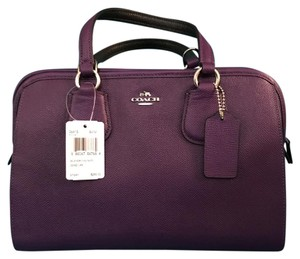 Coach Satchel in Violet with Silver hardware