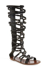 Via Spiga Tall Black Gladiator Sandals