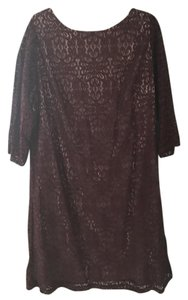 Jessica Howard short dress Maroon Lace Woman on Tradesy