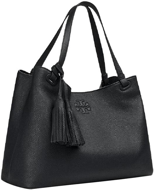 Item - Thea Center Zip Black Pebbled Leather Tote