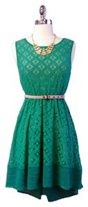 Esley short dress Green Lace Seafoam Teal Boutique Vintage Rare Limited Style on Tradesy