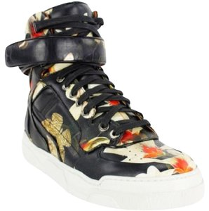 Givenchy BLACK, COLORED FLOWER PRINT Athletic