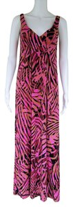 Pink Maxi Dress by CAbi Maxi Stretch Empire Waist