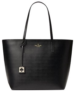 Kate Spade Leather Large Leather Smooth Leather Tote in Black