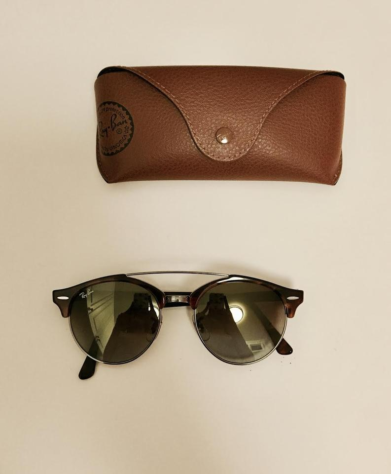 40b870aff82 ... Ray-Ban Clubround Double Bridge Tortoise RB4346 62519J 51-19 Image. 1234