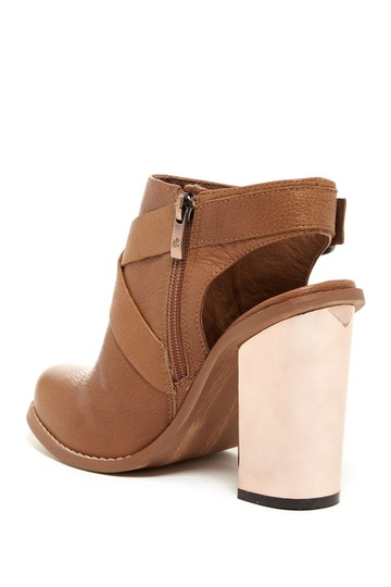 Chinese Laundry Bootie Boot Leather Suede Cognac Pumps