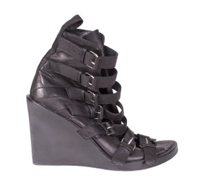 Ann Demeulemeester Boots Buckles Open black Wedges