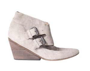 Marsll Suede Wedge Buckle grey Boots