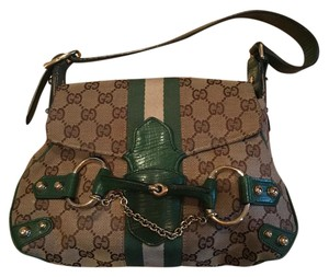 Gucci Monogram Horsebit Shoulder Bag