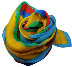 Classic Vintage Classic Vintage Yellow Blue Red Green scarf