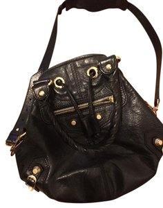 Balenciaga Bucket Pompon Gold Hardware Shoulder Bag