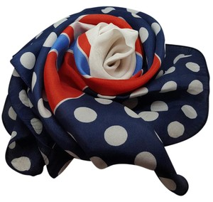Classic Vintage Classic Vintage White Red/Navy Blue scarf