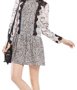 BCBGMAXAZRIA short dress Multi Floral Longsleeve on Tradesy