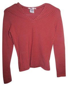 Old Navy V-neck Longsleeve T Shirt Pink and Red