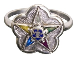 Other Eastern Star Ring Antique women's Masonic Ring