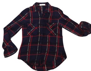 Love Tree Button Down Shirt navy, red