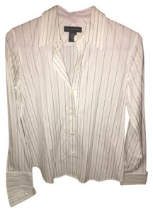 Banana Republic Button Down Shirt white striped