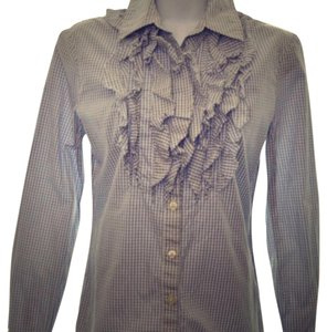 Banana Republic Button Down Shirt gray white