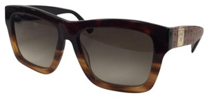 MCM New MCM 607S 634 Red Havana-S Plastic Style Sunglasses 140mm