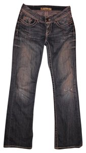 BKE Low Rise Stretch Boot Cut Jeans-Distressed