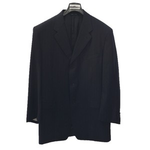 Canali CANALI MEN'S 3 BUTTON WOOL PINSTRIPE SUIT/ NAVY #121-51