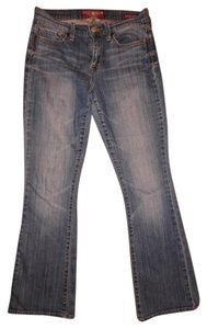 Lucky Brand Low Rise Stretchy Worn Boot Cut Jeans-Distressed