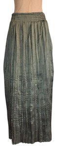 Kenar Crinkled Evening Night Out Shiny Maxi Skirt