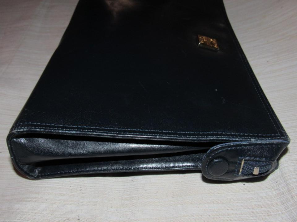 e2c8894bfc1d7 Givenchy Vintage Purses Designer Purses Super Soft Black Leather Clutch -  Tradesy