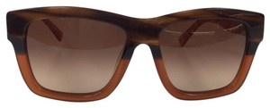 MCM New MCM 607S 284 Striped Brown Plastic Style Sunglasses 140mm
