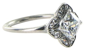 PANDORA 190966CZ Ring Sz 7.5 56 Crystallized Floral Fancy Cubic Zirconia 925