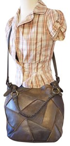 Lucky Brand Patches Vintage Looking Hobo Bag