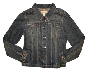 Bleu Jeans Co. Thick Button Down Denim Dark Blue Womens Jean Jacket
