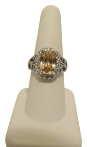 Technibond Technibond Champagne Lab Created Pave Gemstone Ring size 8