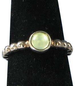 PANDORA 190244PR Sweet Dreams Ring Green Prehnite Sterling Silver Sz 6.75