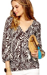 Lilly Pulitzer Top Brown & White