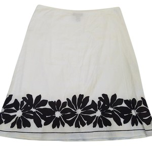 Ann Taylor Skirt White/Brown