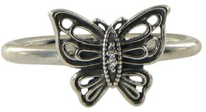 PANDORA 190901CZ Ring Vintage Butterfly Cubic Zirconia Sz 7 54 Sterling Silver