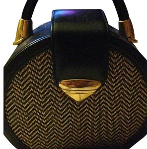 vintage other Satchel in Black with gold and wave cloth on both sides