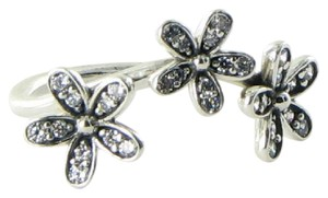 PANDORA 190933CZ Ring Daisy 3 Flower Cubic Zirconia Sterling Silver Sz 5.25