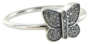 PANDORA 190938CZ Ring Butterfly Pave Cubic Zirconia Sterling Silver Sz 7.75