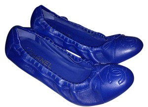 Chanel Ballerina Scrunch Blue Flats