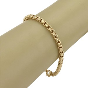 Tiffany & Co. Tiffany & Co. Germany 18k Yellow Gold Curved Box Link Chain Bracelet