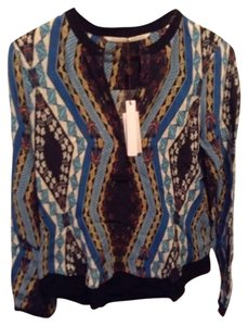 Twelfth St. by Cynthia Vincent Top Black/Blue/Multi