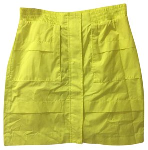 Theory Mini Skirt Neon Yellow
