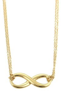 Tiffany & Co. Tiffany & Co. 18k Yellow Gold Infinity Pendant Double Chain Necklace