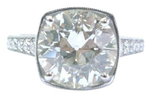Other Platinum Old European Cut Diamond Engagement 3.64Ct + .85Ct J-SI1 EGL-